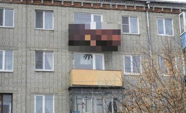 Необычное оформление балкона