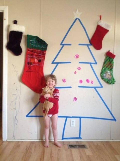 Когда лень заниматься украшением дома к Новому году