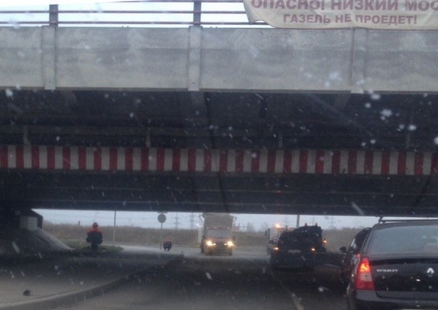 """Мост глупости"" в Санкт-Петербурге отметил свою юбилейную аварию"