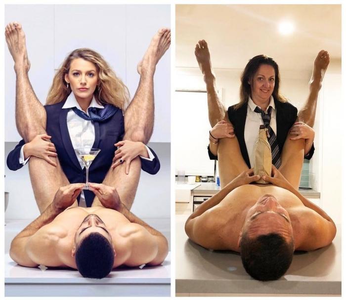 Селеста Барбер пародирует сексуальные фотосессии знаменитостей