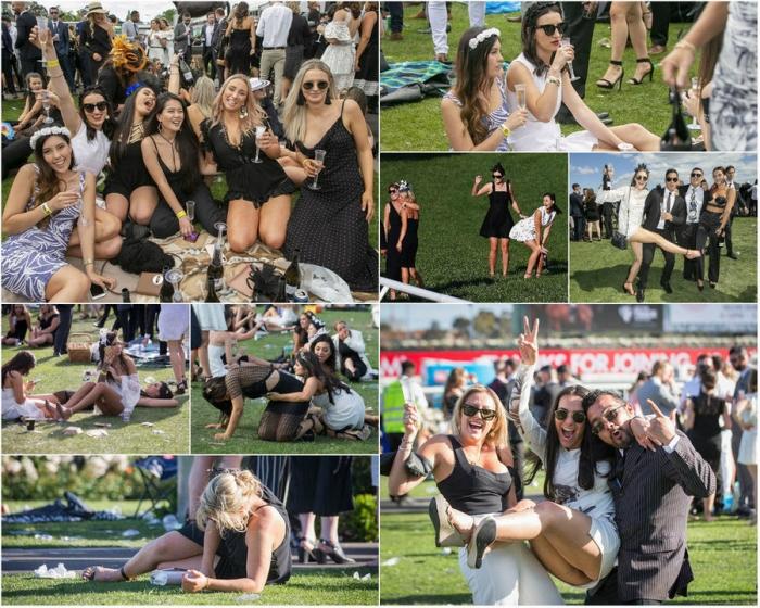 Дамы на Мельбурнском Кубке в Австралии