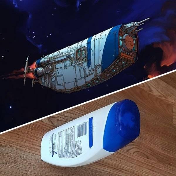 Космические корабли из обычных предметов