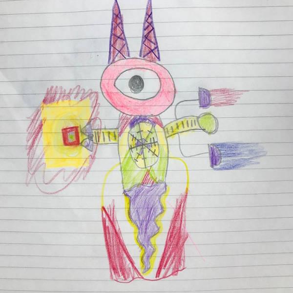 Преображение детских рисунков в персонажей аниме