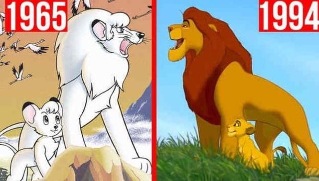 """Японское аниме """"Белый лев Кимба"""" и мультфильм """"Король Лев"""""""