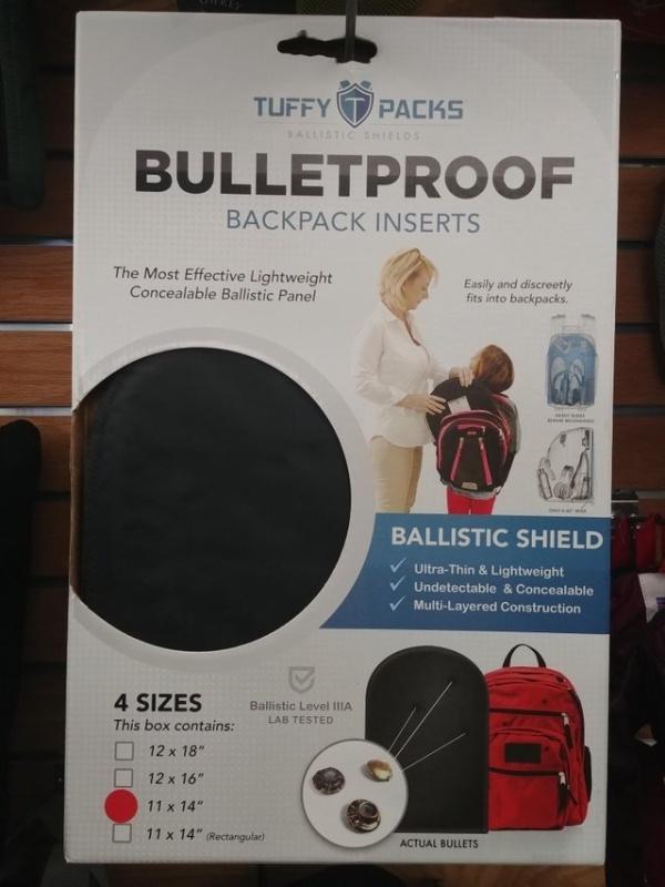 Пуленепробиваемый щит для школьного рюкзака