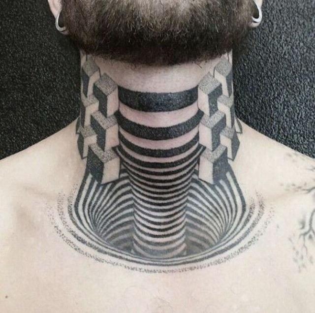 3D-татуировки и оптические иллюзии на коже