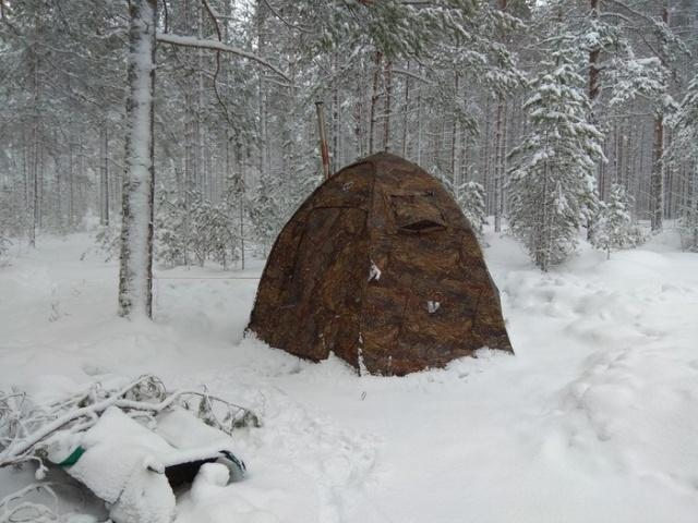 Новогодний поход в лес с палатками