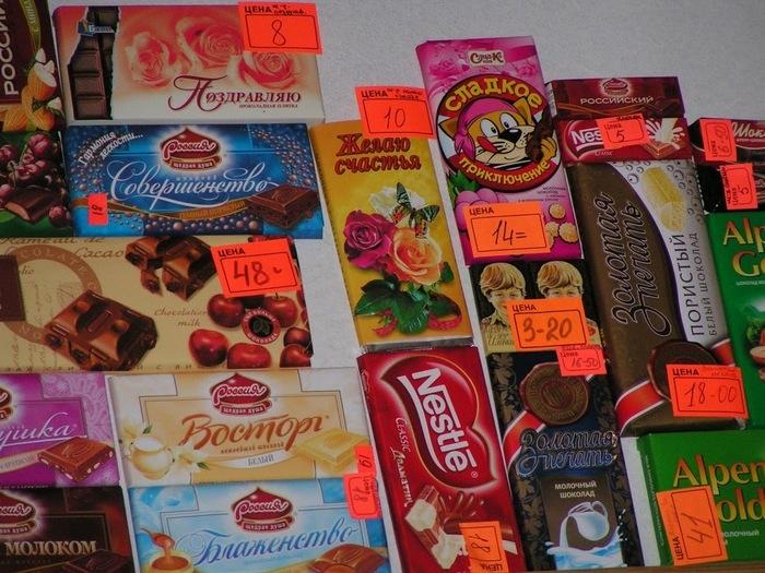 Ценники на различные товары в 2005 году