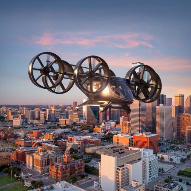 """Bell Nexus - электрический """"вертолет"""", который будет использоваться для перевозок пассажиров"""