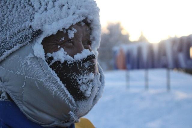 """Экстремальный забег """"Полюс Холода"""" в Оймяконе при температуре в минус 45 градусов"""