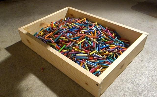 Что можно сделать из 1200 цветных карандашей