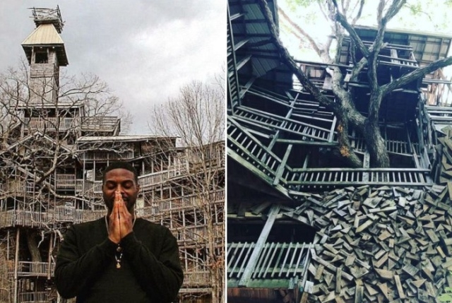 Необычный дом на дереве, который построил священник Горацио Берджесс