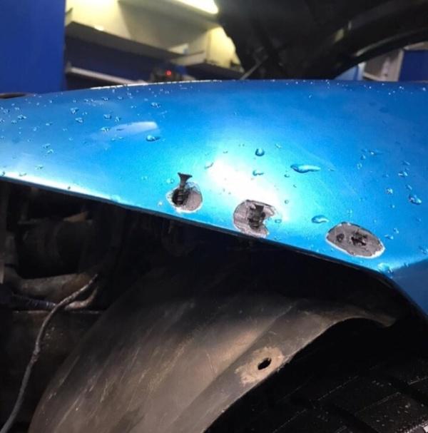 Автомобиль BMW, с которого не снимался передний бампер