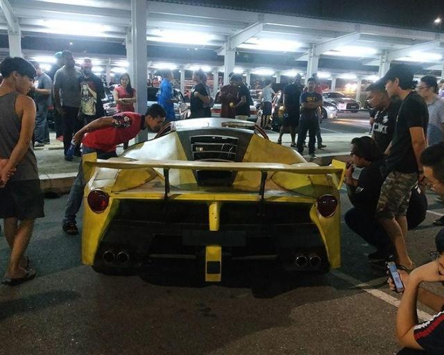 Житель Малайзии попытался сделать своими руками реплику Ferrari LaFerrari