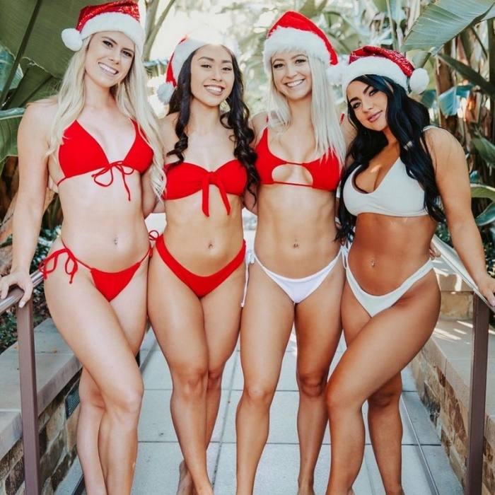 Сексуальные новогодние девчонки