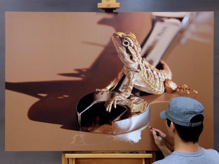 Невероятно реалистичные 3D-картины животных, которые часто путают с фотографиями