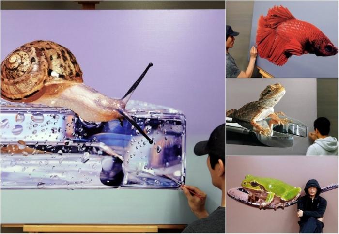 Невероятно реалистичные 3D-картины животных, которые часто путают с фотогра ...