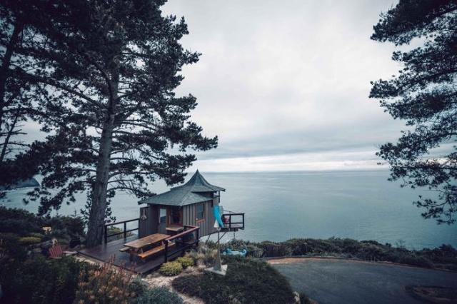 Необычный интерьер пляжного домика