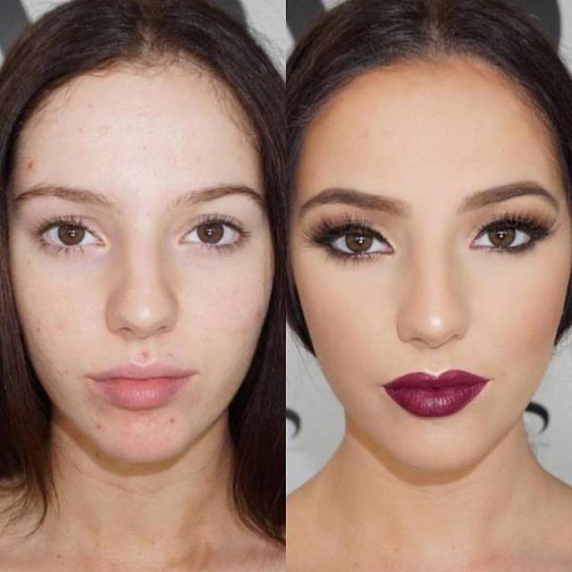 Сила макияжа: до и после