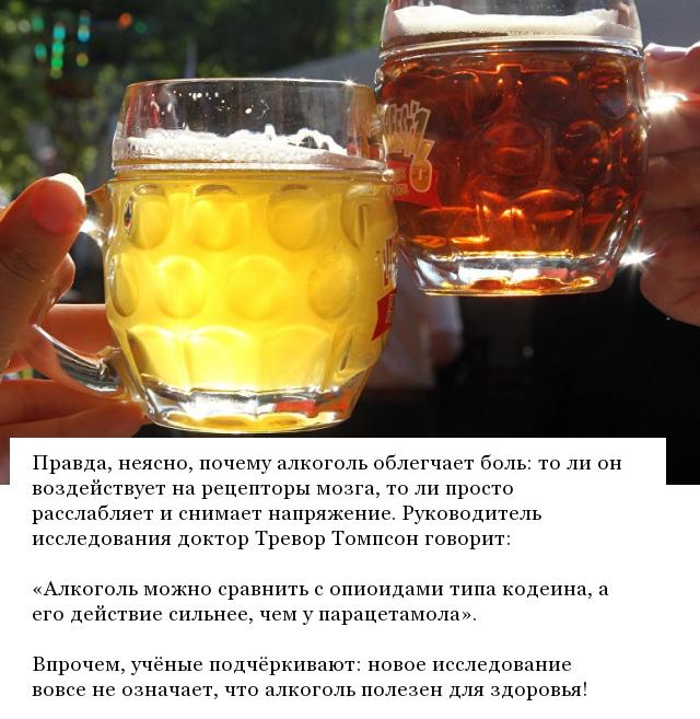 Результаты исследования: Пиво - отличное обезболивающее