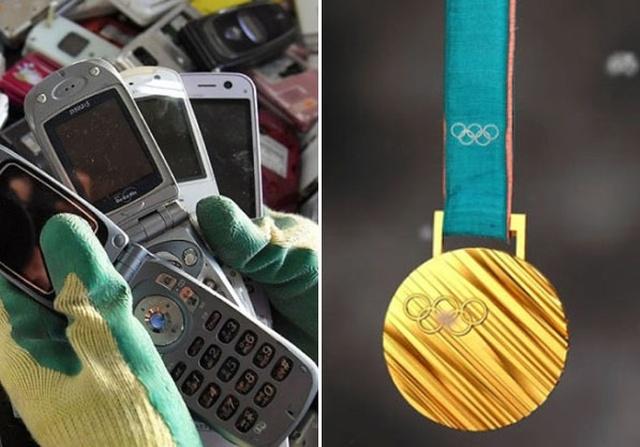 В Японии изготавливают медали к Олимпийским играм из переработанной электроники