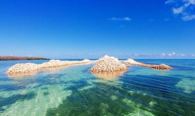 Необычный остров в Карибском море