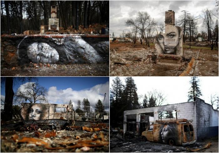 Восставшие из пепла граффити в сожженном городе Парадайз