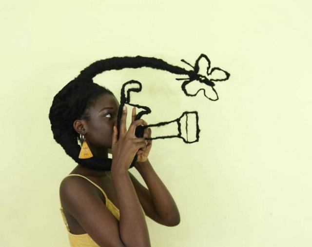 Необычные прически Летиции Кай из Кот-д'Ивуара