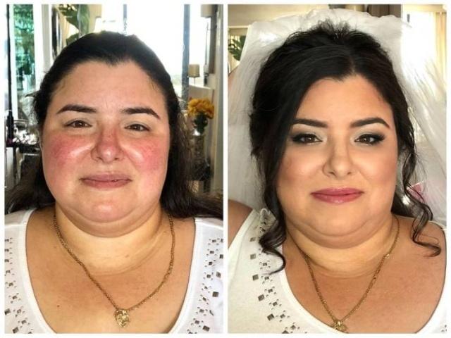 Свадебный макияж: до и после