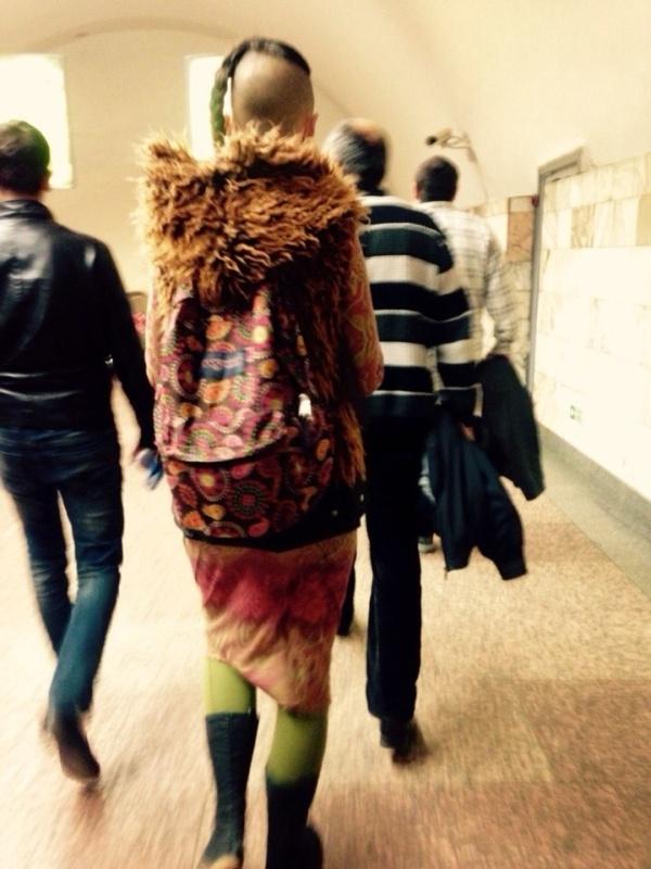 Странные модники в нашем метро