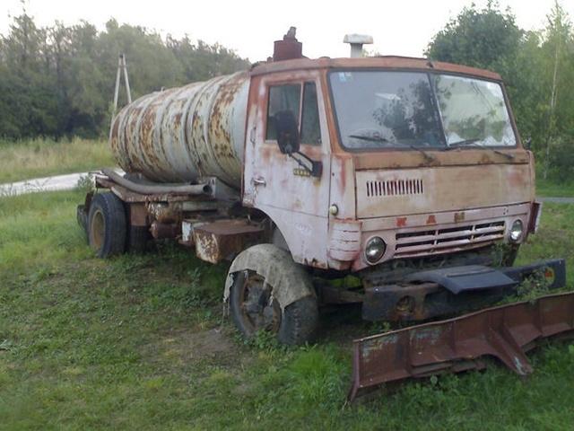 Восстановление старого КамАЗа, который простоял на улице несколько лет