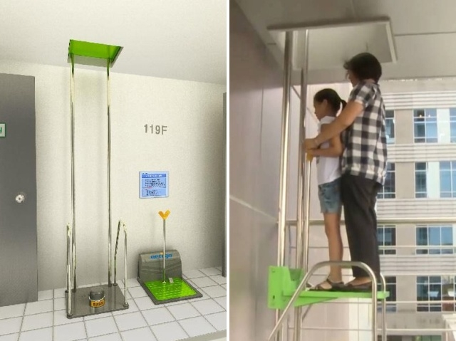Необычная система для аварийной эвакуации из здания