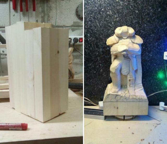 Создание фигурки из дерева в стиле фентези