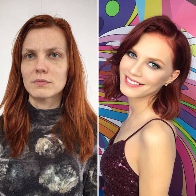 """Современный макияж творит чудеса: """"До и после"""""""