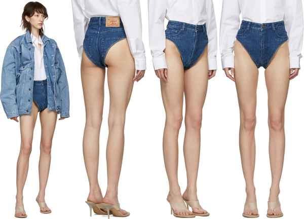 Ждем на улицах девушек в модных джинсовых трусах