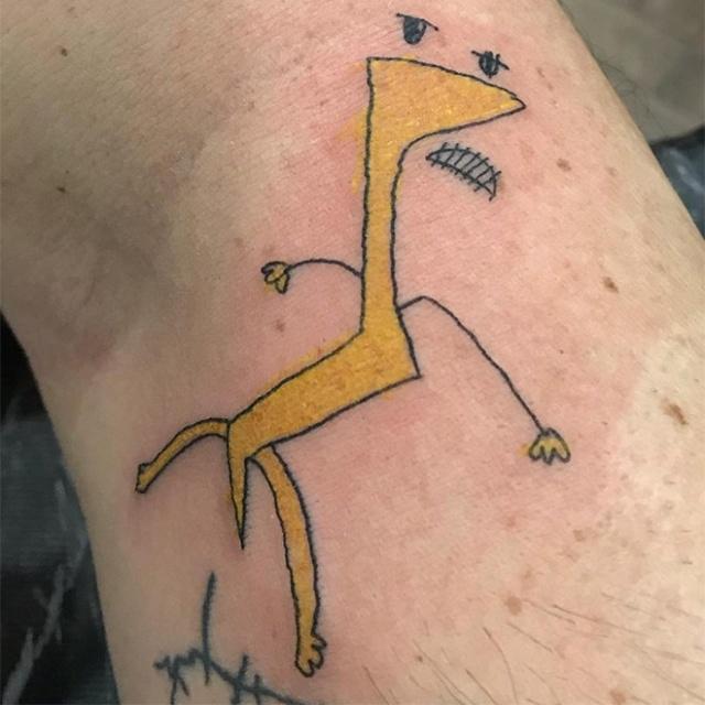 Странные татуировки от бразильского мастера Хелены Фернандес
