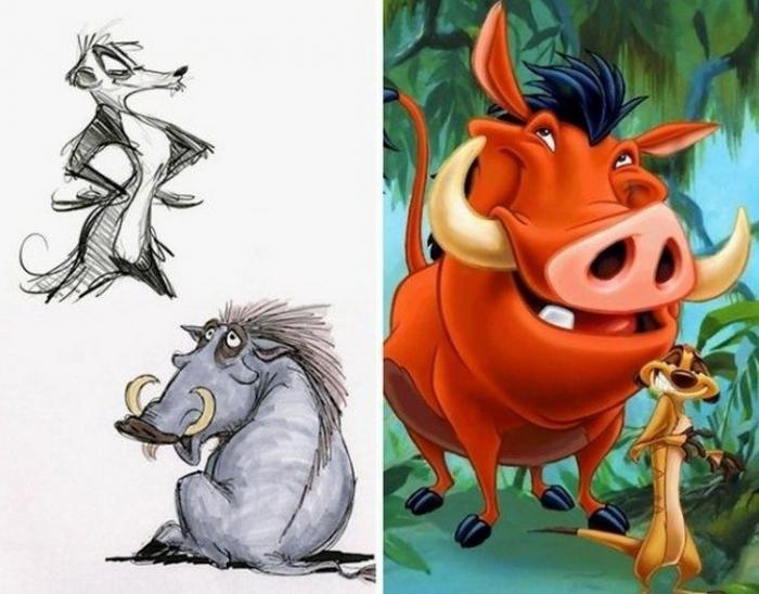 Зарисовки персонажей Диснея расходятся с тем, что мы увидели