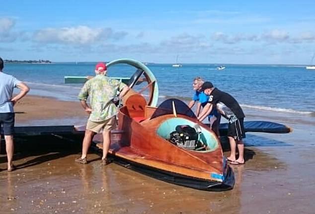 Будущее уже здесь: австралиец смастерил судно на воздушной подушке