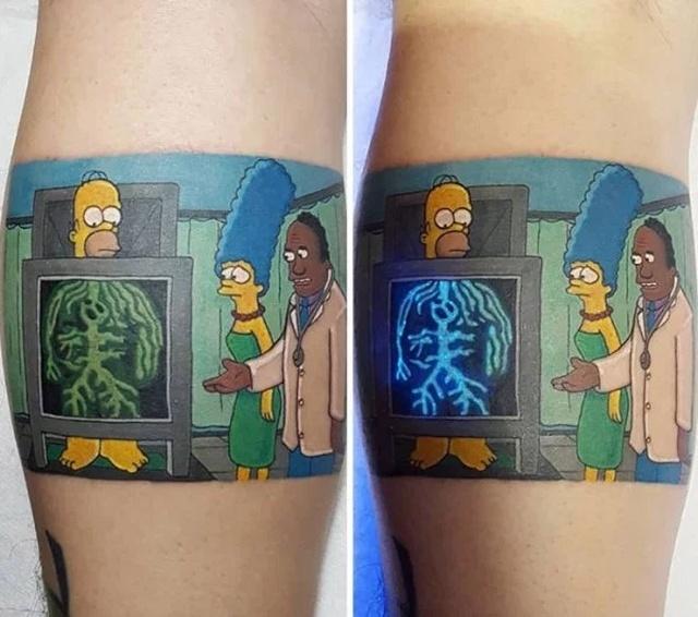 Необычные люминесцентные тату