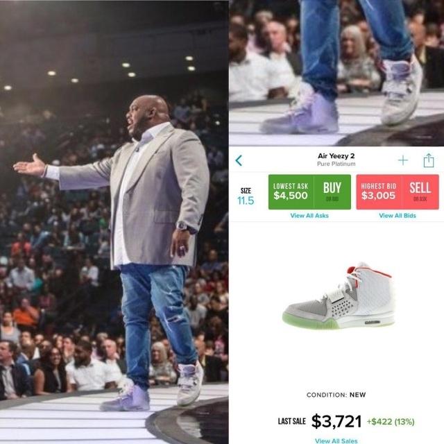 Столько стоят брендовые кроссовки священников и проповедников