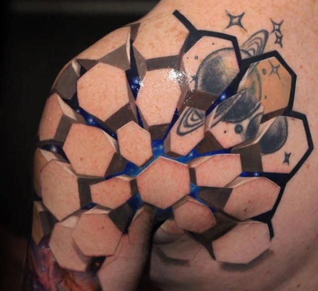Реалистичные 3D-татуировки