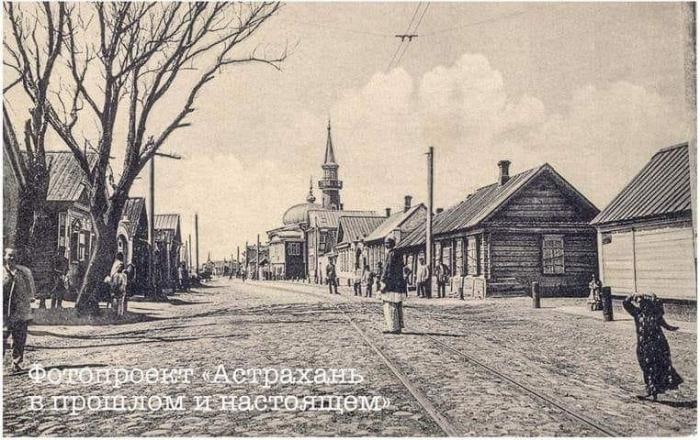 Колоритное фото Астрахань 100 лет назад и в наши дни