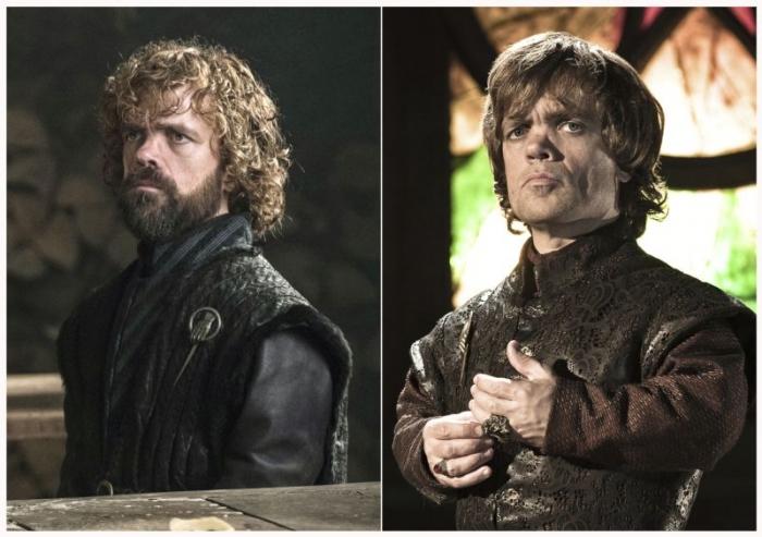 """Герои """"Игры престолов"""" в последнем сезоне и в первом"""