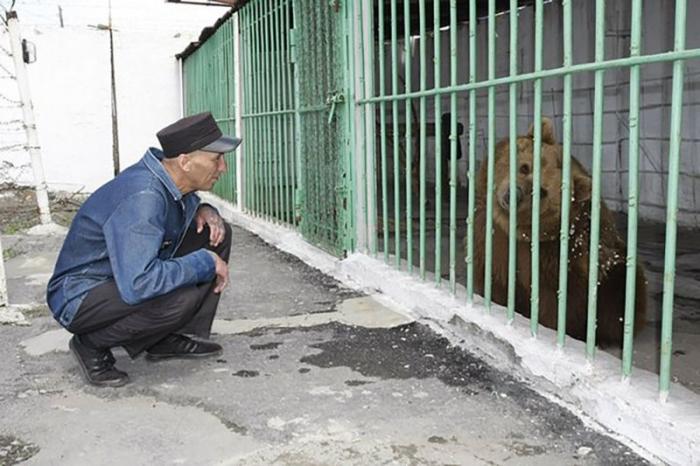 В колонии Казахстана медведица мотает пожизненный срок вместе с другими зэками