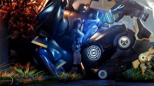 """""""В темное тысячелетие"""": футуристичные 3D-красотки от Дилана Ковальски"""