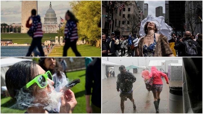 Апрельские кадры из США