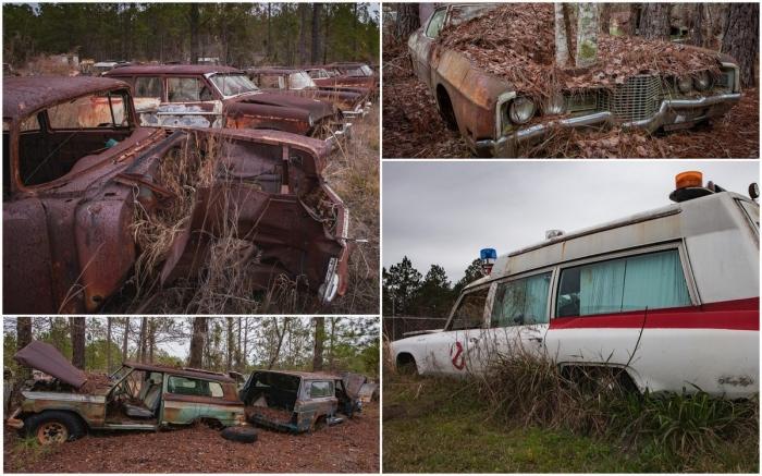 Кладбище ретро автомобилей в США