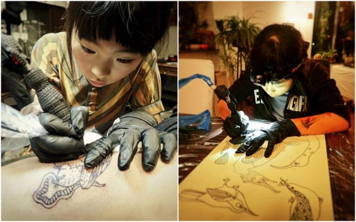 10-летняя тату-художница из Амстердама
