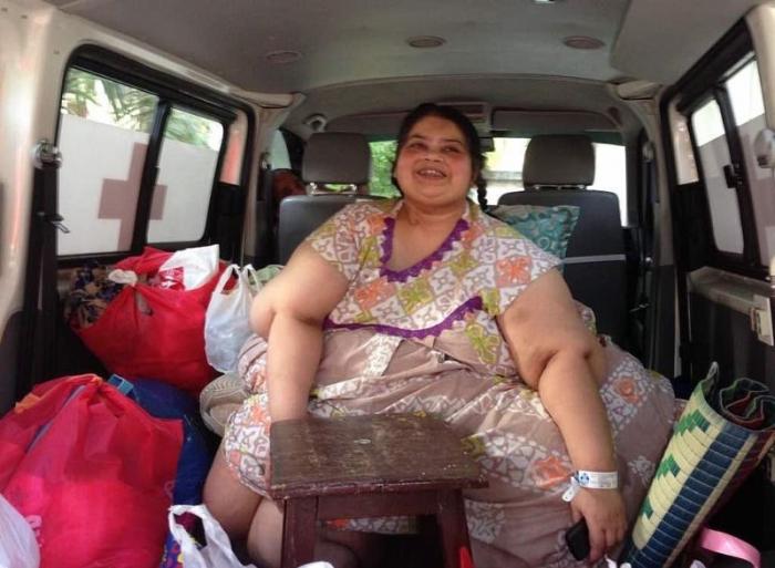 Самая толстая женщина в Азии похудела на 213 кг