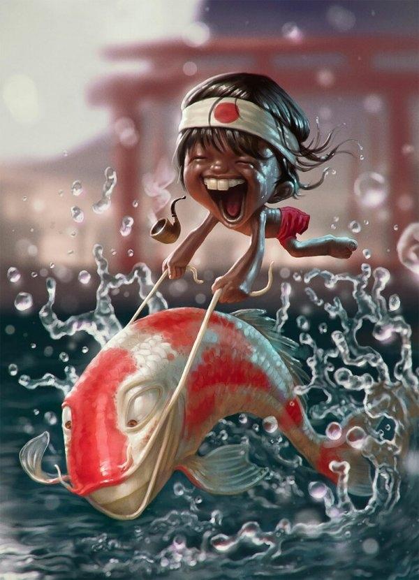 Смешные и милые иллюстрации Тьяго Хойзеля